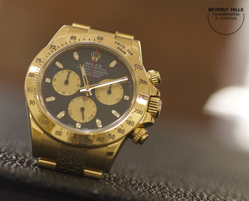 Rolex- Example of a luxury Watch you can pawn at Pawnbrokers of Rodeo Drive