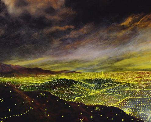 lights across the a town