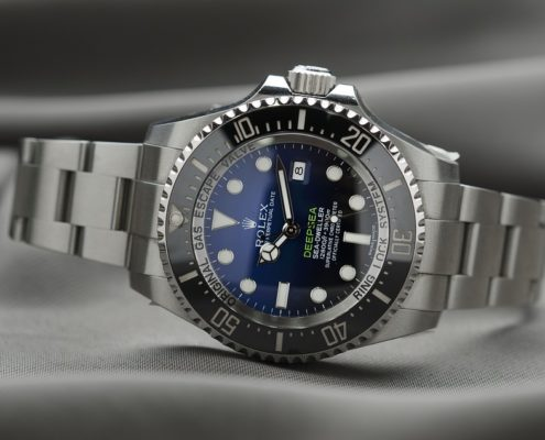 Image of a Rolex watch emphasizing the