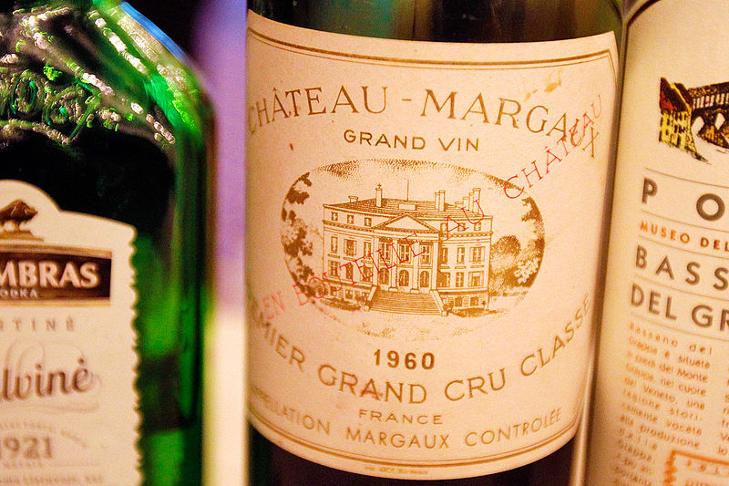 We provide loans on fine wines as Chateau Margaux