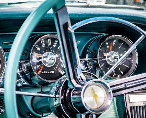 image of classic car wheel