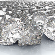 lot of perfect diamond isolated on white, 3d illustration